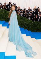 Piste Jennifer Lopez Fashion Light Blue Dress Tapis Robe de soirée pour les femmes long fourreau de bal Robes Celebrity Robe De Soiree