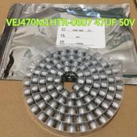 100 sztuk / partia kondensator aluminiowy Vej470m1htr-0607 47uf 50V ± 20% 6.3 * 7.7mm SMD