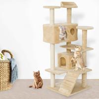 New52 «кот восхождение башни совместно кошки гнездо кошки захватывая гнездо доска животное котенок играет кошки Бежевый