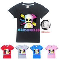 5 Colors 6- 14y Kids Boys 100% Cotton T- shirts Tees Marshmell...