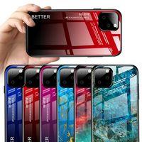 Yeni iPhone 11/11 Pro / 11 Pro Max 2019 Bling temperli cam Case Arka TPU PC Hard Case Moda Renkli Cep Telefonu Cilt Kapak 10pcs