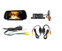 Aparcamiento marcha atrás inalámbrica nueva Assist 7 pulgadas TFT LCD de coches Espejo monitor con cámara de 6 LED del coche a prueba de agua de copia de seguridad cámara de visión trasera