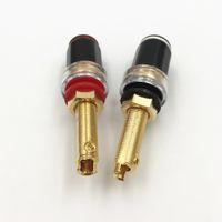 Freeshipping 40pcs laiton 4 mm Amplificateur Hi-fi Banana femelle Plug-parleur Borne Borne d'attache EMBROCHABLE de haute qualité 3 Type Choisissez