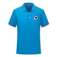 erkekler Bosna ve Herzego Futbol Polo gömlek Futbol kısa kollu polo gömlek yaz moda eğitim Polo Gömlekler futbol forması erkek Polos