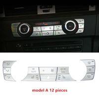 Krom ABS Klima Düğmeleri Pullarda Dekorasyon Kapak Trim İçin BMW 3 Serisi E90 318 320i 2005-12 Araç İç Aksesuar