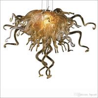 Diseñador del arte decorativo Chihuly Estilo hecho a mano Vidrio soplado Lámparas Colorido restaurante decorativa moderna lámparas pendientes