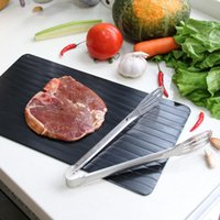 Planche à découper Décongélation rapide des aliments Viande congelée rapide Planche à découper Outil Cuisine Plateau de dégivrage sans électricité Micro-ondes DH0485