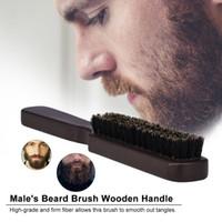 اللحية للرجال فرشاة خشبية شارب مشط ذكر شعر الوجه فرشاة حلاقة لحلاقة صالون تنظيف