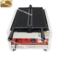 무료 배송 Turnable Plate 상업용 비 스틱 110v 220v 전기 벌집 와플 베이커 메이커 철제 기계