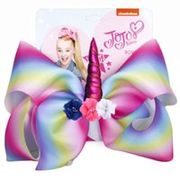 Hot Sale 8' ' JOJO Hair Bow Large Sequin Unicorn Ch...