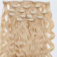 Clipe Loiro Cor em extensões do cabelo solto Curly Remy Human 100gram Cabelo extensões do cabelo humano fácil de usar em casa