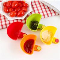 4pcs / lot assortis salade soucoupe ketchup confiture dip dip clip bol bol soucoupe vaisselle de table accessoires de cuisine à domicile cuisine outil de bébé