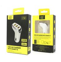 Sugu 3 포트 USB Typec PD 자동차 충전기 어댑터 3 1A 고속 충전기 전압 측정 LED 디지털 디스플레이