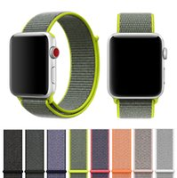 Per Apple Watch iWatch Band 42mm Cinturino da polso regolabile in nylon traspirante morbido e traspirante da 42 mm per Apple Watch 4 3 2 1 DHL gratuita