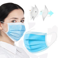 Disposable Face Masks 3 Layers Dustproof Facial Protective C...
