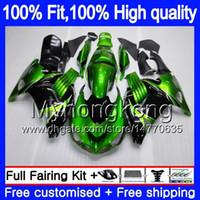 Iniezione per Kawasaki ZX 14R ZZR1400 2006 2007 2008 2009 2010 2011 223MY.5 ZZR1400 ZX14R ZX14R 06 07 08 09 10 11 archivio carenature verdi