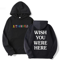 Designer Travis Scotts AstroWorld Hoodies Man The Letter bordados Imprimir Ganhos Wish You Were Here Marca Hoodie Tamanho M-XXXL