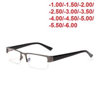 Cubojue رجال نظارات ناقص 100-400 قصر النظر نظارات الإطار تينت السينمائي الأزرق مع وصفة طبية البصرية عدسة رمادي نظارات ذكر