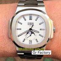 Top-Version GRF Nautilus Толщина-11.3 мм 5726 1A-010 CAL.324 S QA LU 24 H Автоматические мужские часы ежегодный календарь Луна фаза 24H Спортивные часы