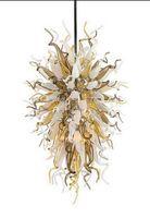 ترف جميلة الثريا الحديثة الفن ديكور قلادة ضوء كيلي نمط اليد الزجاج المنفوخ فندق مورانو الثريا الإضاءة