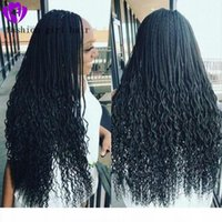 New Fashion Braided Lace Front Wig Micro Braids curly wigs H...