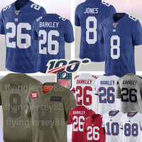 Dev 8 Daniel Jones 26 Saquon Barkley Jersey New York # 10 Dev Eli Manning 11 Phil Simms 87 Sterling Shepard Futbol Formalar S-XXXL
