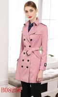 NEW CLASSIC! women fashion England british middle long trench coat high quality brand design double breasted trench coat size S-XXL 5 colors