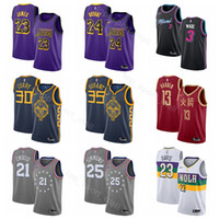 2019 Edition City Jersey Basketball LeBron 23 James Kobe 24 Bryant Stephen  30 curry kevin Durant Joel 21 Embiid Ben 25 Simmons 79f077b5d