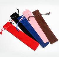 التصميم الإبداعي القطيفة المخملية القلم الحقيبة حامل واحدة حقيبة رصاص حالة القلم مع حبل مكتب مدرسة الكتابة لوازم الطلاب هدايا عيد الميلاد SN