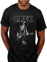 T- Rex Marc Glam Black Casual funny Short Sleeved pure Cotton...