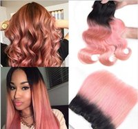 Omber rosa Farbe Körper-Wellen-Bundles brasilianisches Haar gerade Weave Bundles Menschen Virgin Haar Bundle Erweiterung 03.01 / 4ST