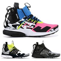 2019 NEW Casual Mens Сокращение х Presto Mid Racer Pink Black chaussure Homme Повседневная обувь Prestos Zapatillas Повседневная обувь Размер 40-45
