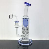 새로운 유리 봉 incycler의 석유 장비의 두꺼운 유리 흡연 물 파이프 14.4mm 조인트 석영 고리 버들 그릇 버블 러