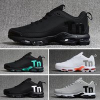 Nike Mercurial Air Max Plus Tn Classic Outdoor New TN Plus Scarpe tn Nero Bianco Sport Shock Mens requin Olive Silver Without Boxes 40-46 2018 Casual Sneakers