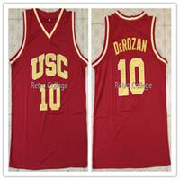 fb19cb85ee68 10 Demar DeRozan USC Trojans camisetas blancas rojas Top College cosida  Camiseta de baloncesto XS-6XL chaleco Jerseys NCAA