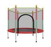 Детский батут с защитным корпусом сетки Прыжки коврика и пружинной крышки могут загружать 442 фунта, для детей в помещении и на открытом воздухе