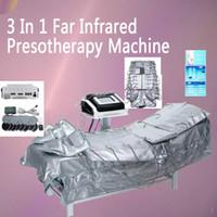 Hot 3 in 1 EMS Far Infrared Pressotherapy Elektrische Muskelstimulation Sauna Luftdruck Pressotherapy Körper schlank Lymphdrainage Maschine