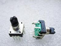 24 encoder rotativo potenziometro digitale audio da 5 piedi con impugnatura dell'interruttore lunghezza totale 11mm impugnatura dell'asse