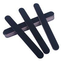 مخصص المطبوعة المهنية 100/180 حصى ملف الأظافر مجموعة EVA Emery الإسفنج الصنفرة المتاح ملف الأظافر الأسود