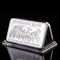Northwest Territoriale Metallica Menta 999 Fine Stagecoach Silver Divisible Bar Coin Metallo Metallo Artigianato Regali No magnetico 1oz argento lingotti