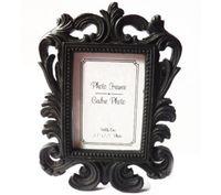 50PCS / لوط الفيكتوري نمط الراتنج WhiteBlack الباروك / صورة إطار الصورة حامل بطاقة مكان دش الزفاف العرسان الحسنات هدية