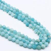 10 Vertentes Natural Amazonita Estrelas corte facetada Nugget Beads 6-10 mM Genuine jóias soltas Gems fazer contas DIY para Handmade pulseira colar