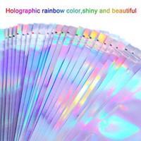 100pcs 4 Boyutları Düz Banyo Tuzu Kozmetik Çanta Kilidi Temizle Mini Holografik Bir Lazer Folyo Çanta Kalın Yan Alüminyum C9C9 Zip