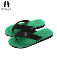 KESMALL Nouvelle Arrivée Été Hommes Flip Flops Haute Qualité Plage Sandales Antidérapant Zapatos Hombre Casual Chaussures Drop Shipping A10