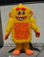 할로윈 최대 괴물 마스코트 의상 고품질 노랑 괴물 만화 애니메이션 캐릭터 캐릭터 크리스마스 카니발 화려한 의상