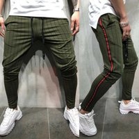 2019 The Newest Fashion Wear Cotton Men Striped Long Casual Pants Slim Fit Skinny Pantalones Joggers Sweatpants