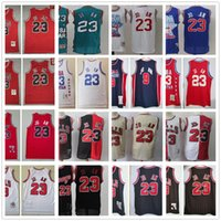 &Mitchell&Ness& Retro Stitched Jerseys Top Quality Mens 23 C...