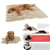 Dog Blanket Dog Bed Tapis Corail mou Toison Paw Foot Print couchage chaud Lits couverture tapis pour les petites et moyennes Chiens Chats Fournitures DHL