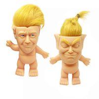 Donald Trump Troll Bebek Komik Trump Simülasyon Yaratıcı Oyuncaklar Vinil Aksiyon Figürleri Uzun Saç Bebekler Komik El Oynamak Çocuk Oyuncakları Toptan KSS360