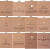 15 스타일 Dogeared 초커 카드와 함께 골드 서클 코끼리 진주 사랑 날개 크로스 키 펜던트 목걸이 패션 여성을위한 쥬얼리 512